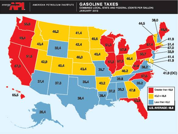 Why do gasoline prices differ across u s states Cost of living in different states in usa