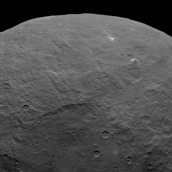 Pyramid structure on dwarf planet Ceres.  Image courtesy of NASA/JPL-Caltech/UCLA/MPS/DLR/IDA.