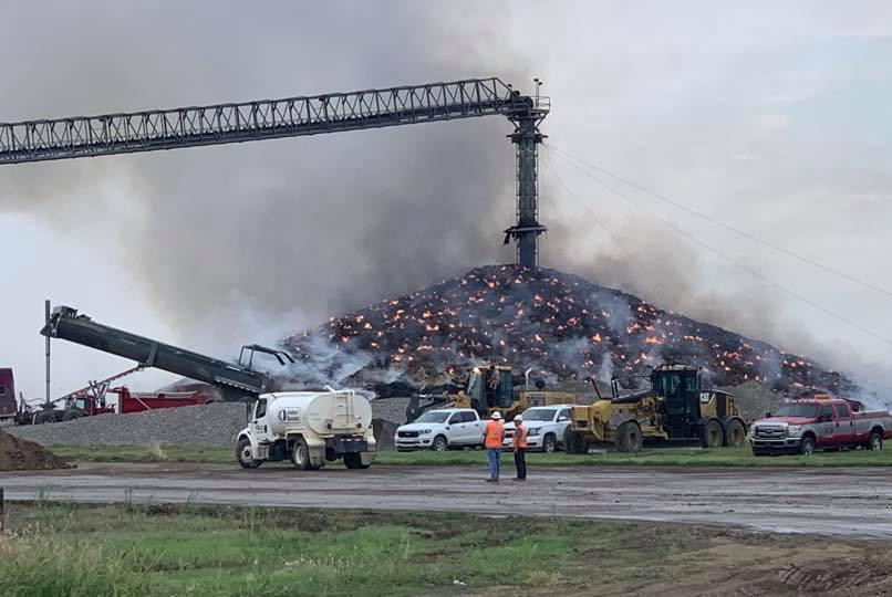 """Massive, rotting soybean pile still burns after catching fire in July"""