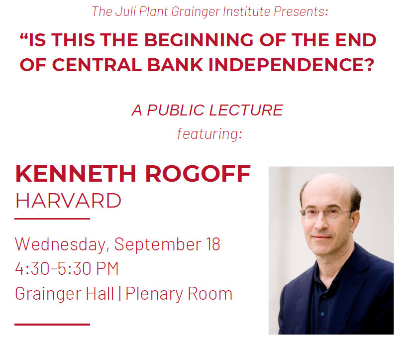 "Ken Rogoff: ""Is this the beginning of the end of central bank independence?"""