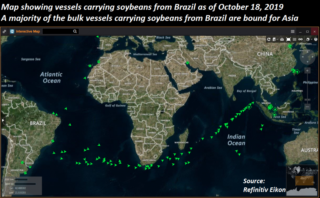 Victory at Sea: Soybeans heading to China (from Brazil)